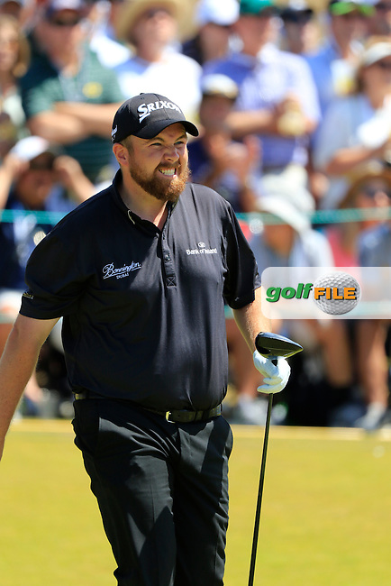 Shane LOWRY (IRL) tees off the 1st tee to start his match during Sunday's Final Round of the 2015 U.S. Open 115th National Championship held at Chambers Bay, Seattle, Washington, USA. 6/21/2015.<br /> Picture: Golffile | Eoin Clarke<br /> <br /> <br /> <br /> <br /> All photo usage must carry mandatory copyright credit (&copy; Golffile | Eoin Clarke)