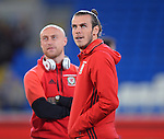Gareth Bale of Wales before the start of the FIFA World Cup Qualifying match at the Cardiff City Stadium, Cardiff. Picture date: November 12th, 2016. Pic Robin Parker/Sportimage