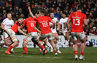 Friday 3rd January 2020 | Ulster Rugby vs Munster Rugby<br /> <br /> Iain Henderson on the attack during the PRO14 Round 10 inter-pro clash between Ulster and Munster at Kingspan Stadium, Ravenhill Park, Belfast, Northern Ireland.  Photo by John Dickson / DICKSONDIGITAL