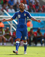 Daniele De Rossi of Italy gestures in frustration