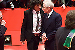 Ronnie Wood and Charlie Watts of the Rolling Stones attend the Shine A Light premiere during day one of the 58th Berlinale International Film Festival held at the Grand Hyatt Hotel on February 7, 2008 in Berlin, Germany.  (Philip Schulte/PressPhotoIntl.com)