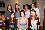 Vanessa Dineen from Causeway celebrating her 18th Birthday with friends at Bella Bia's on Saturday. Pictured Vanessa Dineen from Causeway celebrating her 18th Birthday with friends.  Front left to right, Rebecca O'Sullivan, Vanessa Dineen, Catherine Murphy.  Back left to right, Sharon Reidy, Shauna Moore, Sarah Morris, Shannon Dowling