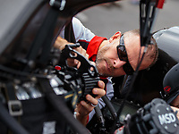 Sep 15, 2018; Mohnton, PA, USA; Crew member for NHRA top fuel driver Steve Torrence during qualifying for the Dodge Nationals at Maple Grove Raceway. Mandatory Credit: Mark J. Rebilas-USA TODAY Sports
