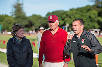 STANFORD, CA - April 11, 2015: Stanford hosts Cal for the Big Meet at Stanford University in Stanford, California. Women's score: Stanford 111, Cal 49. Men's score: Stanford 62, Cal 101.