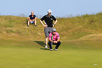 Paul O'Hanlon (Carton House) on the 16th green during Round 4 of the East of Ireland Amateur Open Championship sponsored by City North Hotel at Co. Louth Golf club in Baltray on Monday 6th June 2016.<br /> Photo by: Golffile   Thos Caffrey