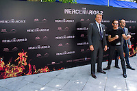 08.08.2012. Presentation at the Hotel Ritz in Madrid of the film ´The Expendables 2´. Directed by Simon West and starring by  Bruce Willis, Jean-Claude Van Damme  , Sylvester Stallone, Jason Statham, Jet Li, Dolph Lundgren, Randy Couture, Terry Crews and Liam Hemsworth. In the image (L-R) Dolph Lundgren, Jean-Claude Van Damme and Jason Statham  (Alterphotos/Marta Gonzalez) / NortePhoto.com<br />