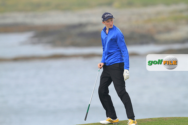 Jason Murphy (Warrenpoint) on the 12th during Round 1 of the Irish Youths Amateur Close Championship in Ardglass Golf Club on Wednesday 27th August 2014.<br /> Picture:  Thos Caffrey / www.golffile.ie