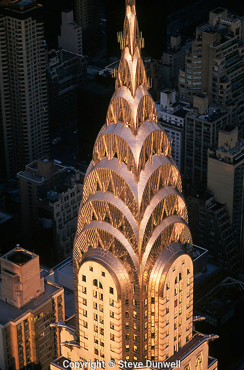 Chrysler Building, New York, NY aerial view, architect =  William Van Allen, 1928