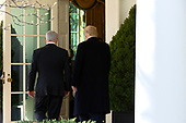 United States President Donald J. Trump and Benjamin Netanyahu, Prime Minister of the State of Israel, enter the Oval Office for a meeting at the White House in Washington, D.C., U.S., on Monday, January 27, 2020.<br /> <br /> Credit: Stefani Reynolds / CNP