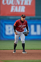 Altoona Curve third baseman Hunter Owen (10) during an Eastern League game against the Erie SeaWolves on June 3, 2019 at UPMC Park in Erie, Pennsylvania.  Altoona defeated Erie 9-8.  (Mike Janes/Four Seam Images)