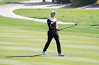 Haotong Li (CHN) on the 8th during Round 1 of the Abu Dhabi HSBC Championship 2020 at the Abu Dhabi Golf Club, Abu Dhabi, United Arab Emirates. 16/01/2020<br /> Picture: Golffile | Thos Caffrey<br /> <br /> <br /> All photo usage must carry mandatory copyright credit (© Golffile | Thos Caffrey
