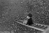 Spending time on a ladder, Summerhill school, Leiston, Suffolk, UK. 1968.