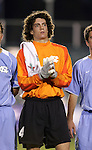UNC's Justin Hughes on Wednesday, November 9th, 2005 at SAS Stadium in Cary, North Carolina. The University of North Carolina Tarheels defeated the North Carolina State University Wolfpack 1-0 during their Atlantic Coast Conference Tournament Quarterfinal game.