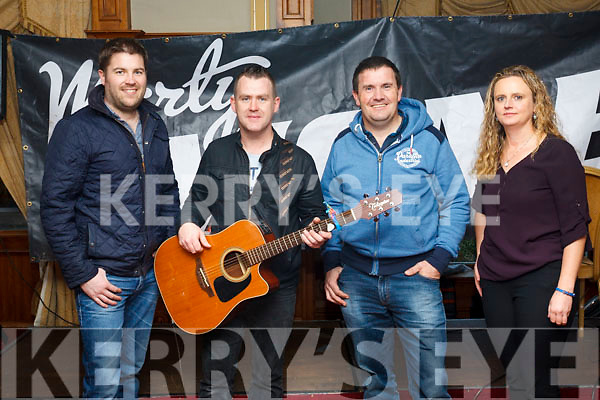 Marty Mone fans in attendance at his meet and greet in the Meadowlands Hotel on Saturday afternoon last. L to r,  Mark Curran, Marty Mone, John Healy and Heather McGyver.