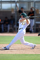 Oakland Athletics outfielder Mitchell Marincov (13) during an instructional league game against the San Francisco Giants on September 27, 2013 at Papago Park Baseball Complex in Phoenix, Arizona.  (Mike Janes/Four Seam Images)