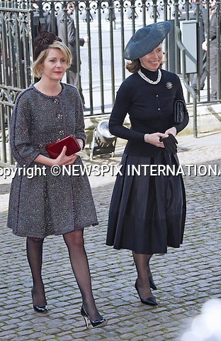 LADY SARAH CHATTO AND LADY SERENA LINLEY<br /> attend Sir David Frost Memorial, Westminster Abbey, London_13/03/2014<br /> Mandatory Credit Photo: &copy;Dias/NEWSPIX INTERNATIONAL<br /> <br /> **ALL FEES PAYABLE TO: &quot;NEWSPIX INTERNATIONAL&quot;**<br /> <br /> IMMEDIATE CONFIRMATION OF USAGE REQUIRED:<br /> Newspix International, 31 Chinnery Hill, Bishop's Stortford, ENGLAND CM23 3PS<br /> Tel:+441279 324672  ; Fax: +441279656877<br /> Mobile:  07775681153<br /> e-mail: info@newspixinternational.co.uk
