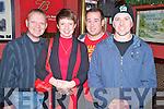 Enjoying the Killarney Celtic Christmas party ion Charlie Foleys bar, Killarney on Friday night were John Joe and Geraldine Templeman, James Hurley and Mike Downing.