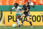 18 July 2009: Saint Louis' Eniola Aluka (ENG) (9) and Washington's Jill Gilbeau (3). The Washington Freedom defeated Saint Louis Athletica 1-0 at the RFK Stadium in Washington, DC in a regular season Women's Professional Soccer game.