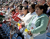 Washington, DC - April 17, 2008 -- Unidentified congregants pray as Pope Benedict XVI celebrates Mass at the new Nationals Park in Washington, D.C. on Thursday, April 17, 2008. This is the first non-baseball event in the park, which opened March 31..Credit: Ron Sachs / CNP.(RESTRICTION: NO New York or New Jersey Newspapers or newspapers within a 75 mile radius of New York City)