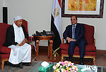 A handout picture made available by the Office of the Egyptian Presidency shows the Egyptian President, Abdel Fattah al-Sisi, meets with Head of the Supreme Council for Islamic Affairs in Ethiopia, in Ethiopia's capital Addis Ababa, March 25, 2015. Photo by Egyptian presidency