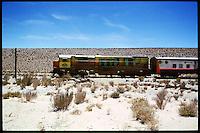The train to the clouds - &quot;Tren a las Nubes&quot;. One of the three highest trains in the world cross the argentinian Andes.<br /> The trip cost 1515,- US-Dollar/pP.<br /> 28.10.2000, Munanos<br /> Copyright: Christian-Ditsch.de<br /> [Inhaltsveraendernde Manipulation des Fotos nur nach ausdruecklicher Genehmigung des Fotografen. Vereinbarungen ueber Abtretung von Persoenlichkeitsrechten/Model Release der abgebildeten Person/Personen liegen nicht vor. NO MODEL RELEASE! Nur fuer Redaktionelle Zwecke. Don't publish without copyright Christian-Ditsch.de, Veroeffentlichung nur mit Fotografennennung, sowie gegen Honorar, MwSt. und Beleg. Konto: I N G - D i B a, IBAN DE58500105175400192269, BIC INGDDEFFXXX, Kontakt: post@christian-ditsch.de<br /> Urhebervermerk wird gemaess Paragraph 13 UHG verlangt.]