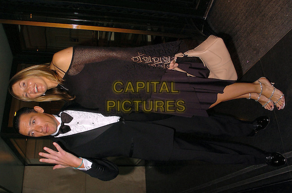FRANKIE DETORI & WIFE.The Lesters Equestrian Awards, London, .8th January 2005..full length pregnant hand fingers married.Ref: CAN.www.capitalpictures.com.sales@capitalpictures.com.©Capital Pictures.