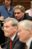 "Washington, D.C. - January 15, 2008 -- Randy Levine, President, New York Yankees, top center, looks on as Major League Baseball Commissioner Bud Selig, bottom left, and Donald Fehr, Executive Director, Major League Baseball Players Association (MLBPA), bottom right, testify before the United States House Committee on Oversight and Government Reform hearing on ""The Mitchell Report: The Illegal Use of Steroids in Major League Baseball."" on Tuesday, January 15, 2008..Credit: Ron Sachs / CNP.[RESTRICTION: No New York Metro or other Newspapers within a 75 mile radius of New York City]"