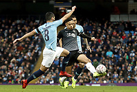 Burnley's Dwight McNeil is tackled by Manchester City's Ilkay Gundogan<br /> <br /> Photographer Rich Linley/CameraSport<br /> <br /> Emirates FA Cup Fourth Round - Manchester City v Burnley - Saturday 26th January 2019 - The Etihad - Manchester<br />  <br /> World Copyright © 2019 CameraSport. All rights reserved. 43 Linden Ave. Countesthorpe. Leicester. England. LE8 5PG - Tel: +44 (0) 116 277 4147 - admin@camerasport.com - www.camerasport.com