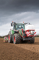 Cultivating and applying Nemathorin for potatoes - Lincolnshire, April