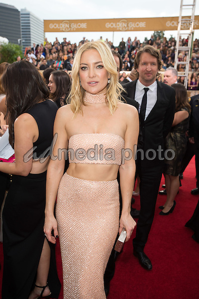 Kate Hudson arrives at the 73rd Annual Golden Globe Awards at the Beverly Hilton in Beverly Hills, CA on Sunday, January 10, 2016. Photo Credit: HFPA/AdMedia