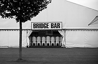 Henley-on-Thames. United Kingdom.  &quot;Stacked Chairs in the Bridge Bar&quot; 2017 Henley Royal Regatta, Henley Reach, River Thames. <br /> <br /> 07:43:55  Tuesday  27/06/2017   <br /> <br /> [Mandatory Credit. Peter SPURRIER/Intersport Images.