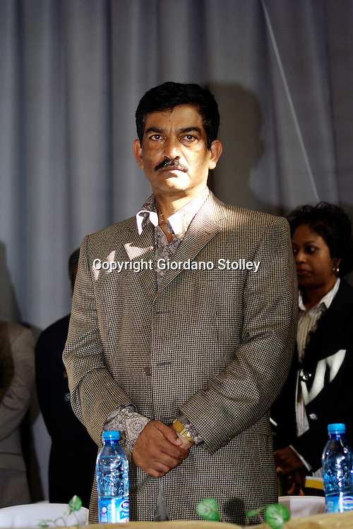 DURBAN - 26 May 2007 - Roy Moodley, the chairman of the African National Congress' Umhlanga branch, listens to African National Congress deputy president Jacob Zuma speaking at the ANC's Khulisa branch at the celebration of the 60th anniversary of the so-called Three Doctors' Pact..Picture: Giordano Stolley/Allied Picture Press
