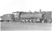 3/4 view of of K-27 #451 in Alamosa scrapping operation.<br /> D&amp;RGW  Alamosa, CO