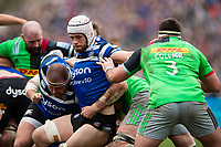 Dave Attwood of Bath Rugby in action at a maul. Gallagher Premiership match, between Bath Rugby and Harlequins on March 2, 2019 at the Recreation Ground in Bath, England. Photo by: Patrick Khachfe / Onside Images