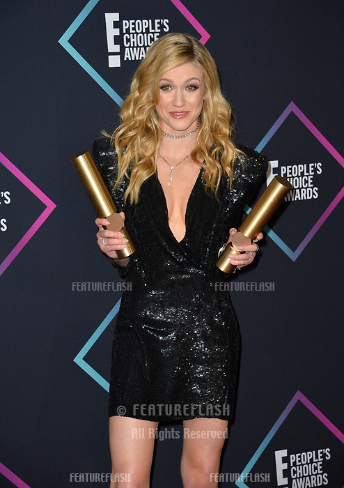 LOS ANGELES, CA. November 11, 2018: Katherine McNamara at the E! People's Choice Awards 2018 at Barker Hangar, Santa Monica Airport.<br /> Picture: Paul Smith/Featureflash
