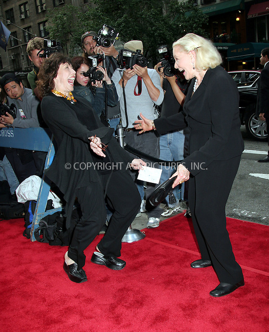 """WWW.ACEPIXS.COM . . . . . ....JUNE 4 2006, New York City......Lily Tomlin and Lauren Bacall arriving at the New York Premiere of """"A Prairie Home Companion"""" at the DGA Theatre....Please byline: NANCY RIVERA - ACEPIXS.COM.. . . . . . ..Ace Pictures, Inc:  ..(212) 243-8787 or (646) 679 0430..e-mail: picturedesk@acepixs.com..web: http://www.acepixs.com"""