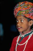 Folklore im Samode Palast Hotel, Jaipur (Rajasthan), Indien.