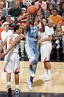 North Carolina guard Leslie McDonald (2) shoots the ball during an NCAA basketball game against Virginia Monday Jan. 20, 2014 in Charlottesville, VA. Virginia defeated North Carolina 76-61.