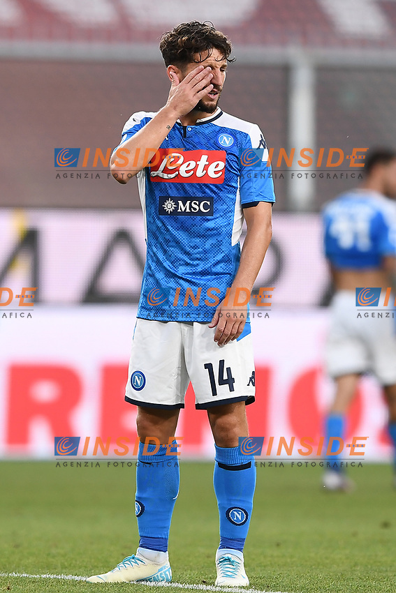 Dries Mertens of SSC Napoli during the Serie A football match between Genoa CFC and SSC Napoli stadio Marassi in Genova ( Italy ), July 08th, 2020. Play resumes behind closed doors following the outbreak of the coronavirus disease. <br /> Photo Matteo Gribaudi / Image / Insidefoto