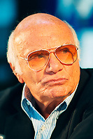 Montreal, Canada - File Photo<br /> <br /> Italian Film maker Francesco  Rosi seen in August 2000 at the World Film Festival.<br /> <br /> Rosi passed away January 10, 2015<br /> <br /> Photo : Agence Quebec Presse - Pierre Roussel