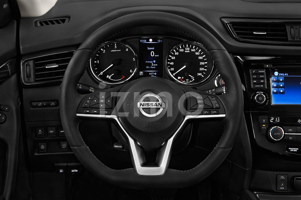 Car pictures of steering wheel view of a 2018 Nissan X-Trail Tekna 5 Door SUV Steering Wheel