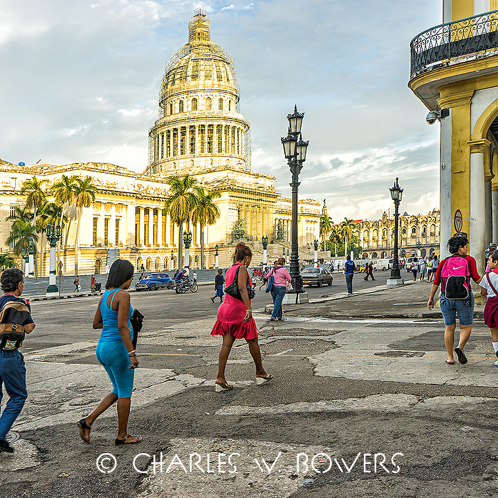 Faces Of Cuba -A Capitol morning - of to work.<br />