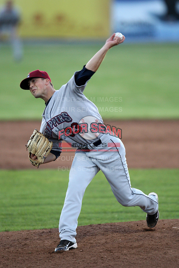 Mahoning Valley Scrappers pitcher James Reichenbach (33) delivers a pitch during a game vs. the Batavia Muckdogs at Dwyer Stadium in Batavia, New York June 29, 2010.   Mahoning Valley defeated 5-4.  Photo By Mike Janes/Four Seam Images