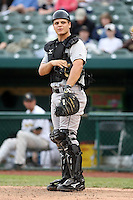June 13th 2008:  Catcher Devin Mesoraco of the Dayton Dragons, Class-A affiliate of the Cincinnati Reds, during a game at Stanley Coveleski Regional Stadium in South Bend, IN.  Photo by:  Mike Janes/Four Seam Images