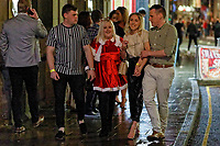Pictured: Christmas revellers Wind Street, Swansea, Wales, UK. Friday 20 December 2019<br /> Re: Black Eye Friday (also known as Black Friday, Mad Friday, Frantic Friday) the last Friday before Christmas, in Swansea, Wales, UK.