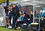 Dundee v St Johnstone&hellip;29.12.18&hellip;   Dens Park    SPFL<br />A relaxed Tommy Wright watches his teasm from the dugout<br />Picture by Graeme Hart. <br />Copyright Perthshire Picture Agency<br />Tel: 01738 623350  Mobile: 07990 594431