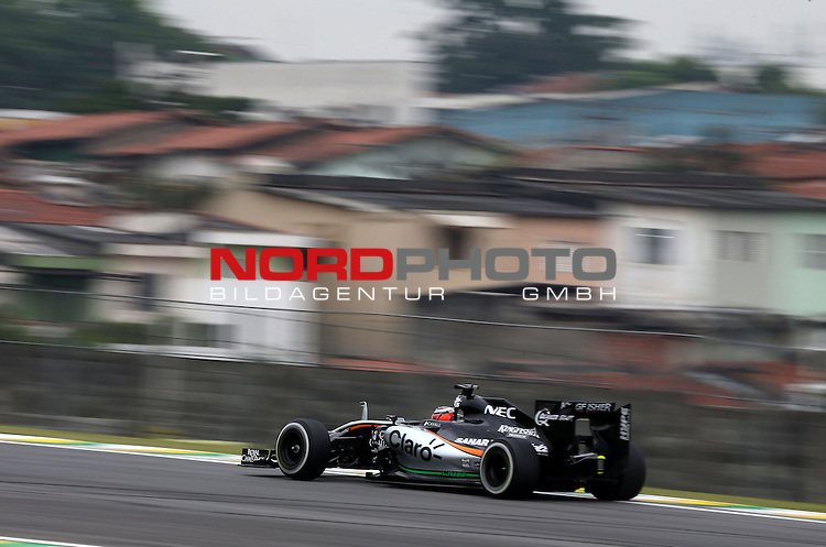 15.11.2015, Autodromo Jose Carlos Pace, Sao Paulo, BRA, F1, Grosser Preis von Brasilien, im Bild  Nico Huelkenberg (GER), Force India Formula One Team<br /> for the complete Middle East, Austria &amp; Germany Media usage only!<br />  Foto &copy; nph / Mathis