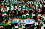 Scarves held up before the match starts during the Champions League Group C match at the Celtic Park Stadium, Glasgow. Picture date: September 28th, 2016. Pic Simon Bellis/Sportimage
