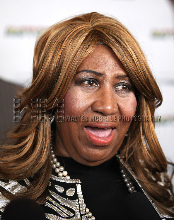 Aretha Franklin attending the Broadway World Premiere Launch for 'Motown: The Musical' at the Nederlander in New York. Sept. 27, 2012