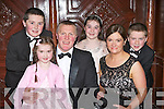 The Walsh family from Castleisland at the Kerry County Hunt club in the Killarney Avenue Hotel on Friday night l-r: Ronan, Ellie Mai,  PJ, Aoife, Caroline and Sean..
